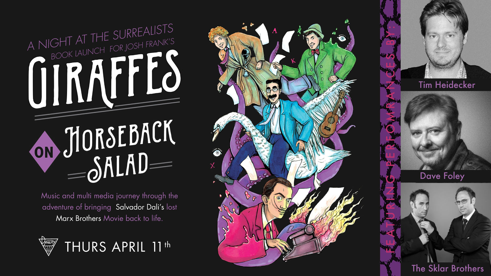 """A Night at the Surrealists"""" Feat  Tim Heidecker, Dave Foley"""