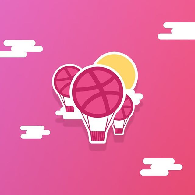 Hey my @Dribbble friends! . .  Here is my quick shot to @stickermule Playoff! #Dribbble for me is great adventure filled by inspiration and creativity. It's a great place with great people. . Check my @dribbble account and support my post! . I wish @dribbble another 1,000,000,000,000 pixels dribbbled!! Cheers! . . . . #dribbble #sticker #contest #balloons #playoff #designer #design #uidesign #ux #ui #uxui #uxdesigner #uidesigner #inspiration #creativity #uxinspiration #uiinspiration #illustration #icon #sun #clouds