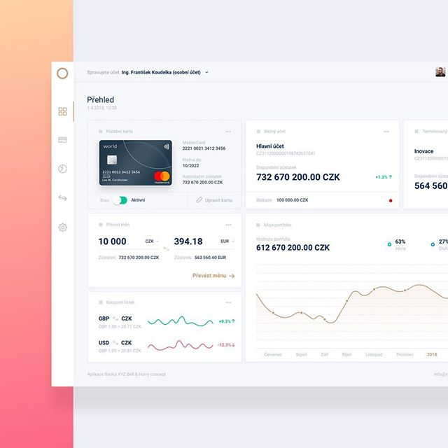 Hey designers! . Check my #dribbble profile: dribbble.com/andyzacek . Here is my minimalist concept of Online Banking Dashboard! . There a several widgets for Private Account, Time Deposits, Exchange Rates + Currency converter and you're portfolio (stocks, bonds...) graph and of course - your Debit / Credit card. . Thank you very much for your comment and support! . Cheers. . . #design #ux #ui #uxui #uxdesigner #uidesigner #uiinspiration #uxinspiration #dashboard #bank #banking #new #concept #interface #gui #uidesign #icons #minimalism #ux_interaction #ui_design . . @czech_designs @ui__ux @dribbble