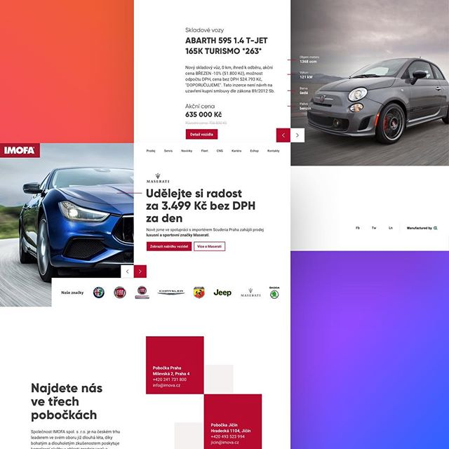 Hey #designers here is my minimalistic concept of czech fca group reseller micropage. . . #fiat #chrysler #alfaromeo #cars #automotive #landingpage #micropage #ux_ui #uxdesign #uxdesigner #ui #uidesigner #uidesign #uiinspiration #uxuiinspiration #friday #colors #minimalistic #webpage #webdesign #webdesigner #website #web #responsive #automobile #gilroy #dribbble #sketch #photoshop