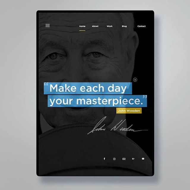 Make each day your masterpiece. #JohnWooden #Goldcom #GrowWithGoldcom . . . #inspiration #inspiringquotes #legend #designconcept #marketing #advertising #marketingagency #digitalmarketing #Businessbuilding #branding #branddesign #webuildbrands #growcompanies #agency #goldencommunications #commarts #graphicdesign #facebookads #googleads #design #designblog #ad