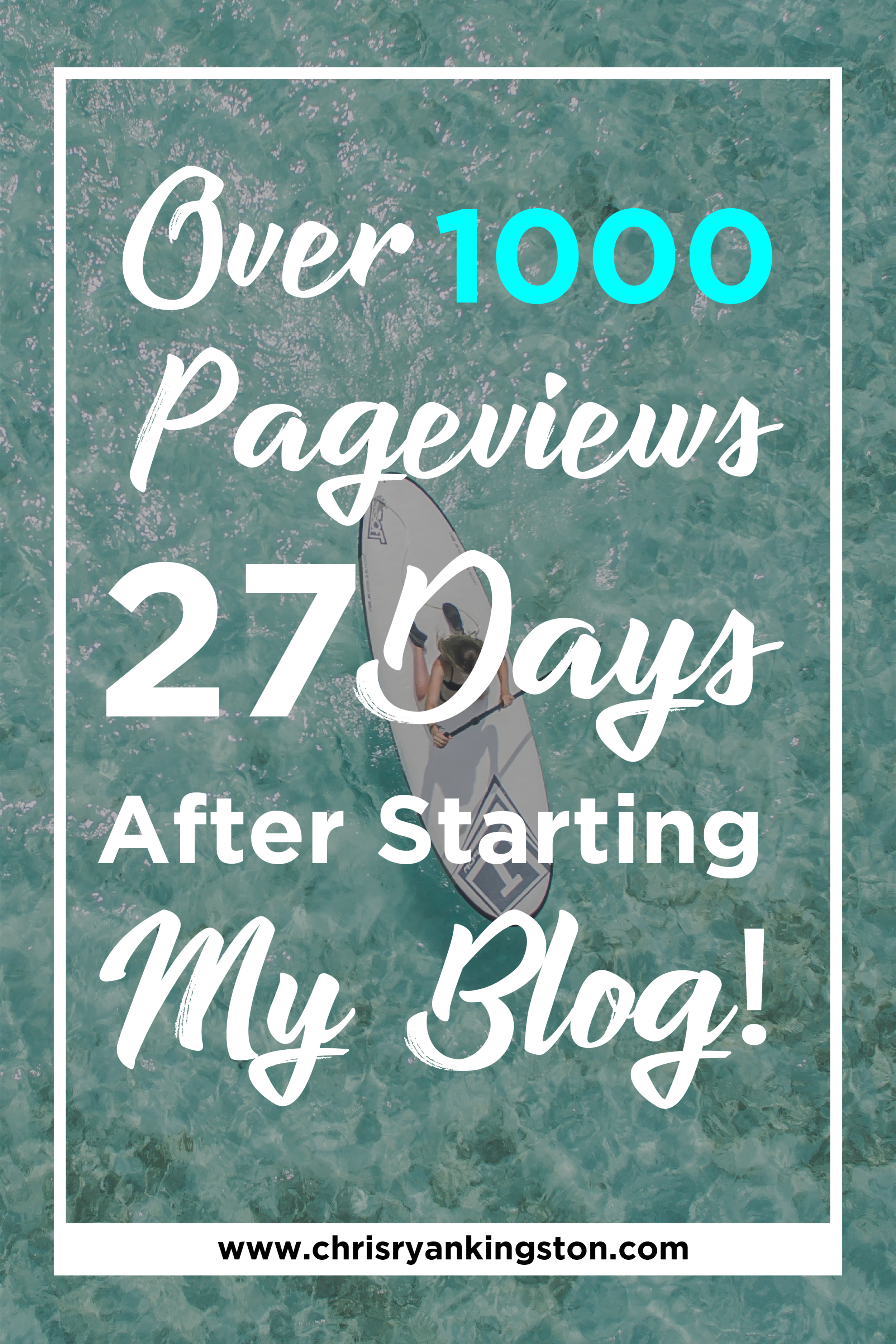 How I Achieved Over 1000 Page views Just 27 Days After Starting My Blog! | chrisryankingston