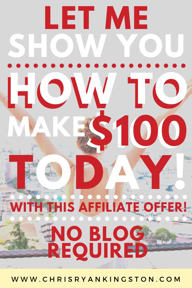 $100 per day affiliate offer