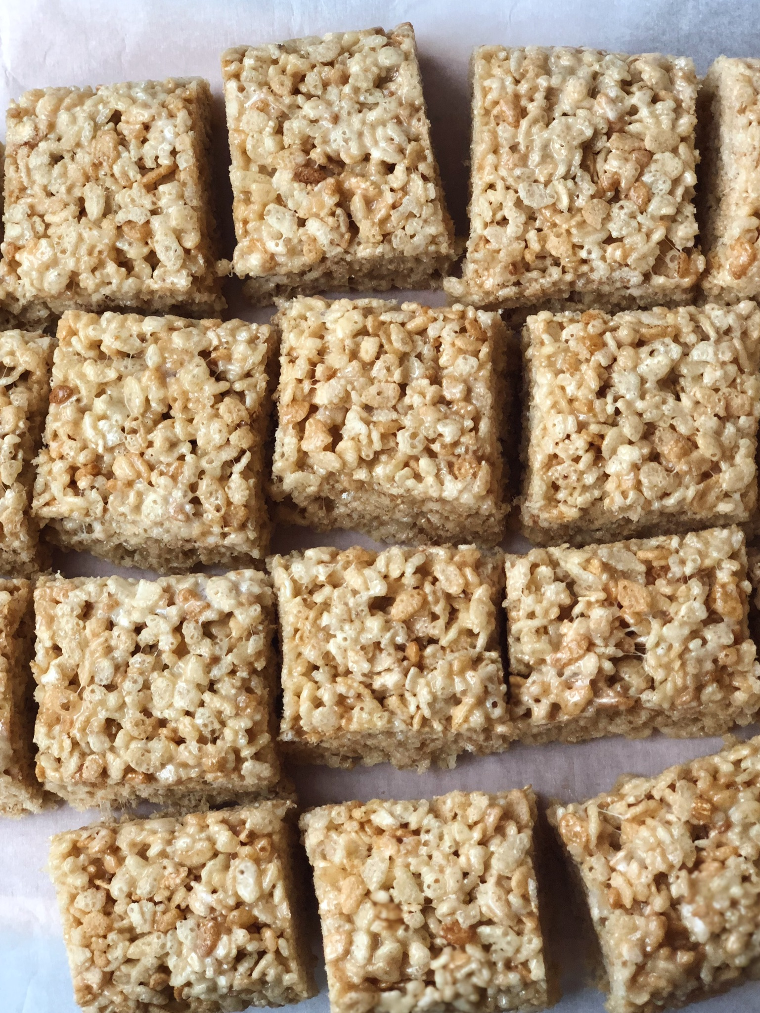 line & lee brown butter rice crispy treats