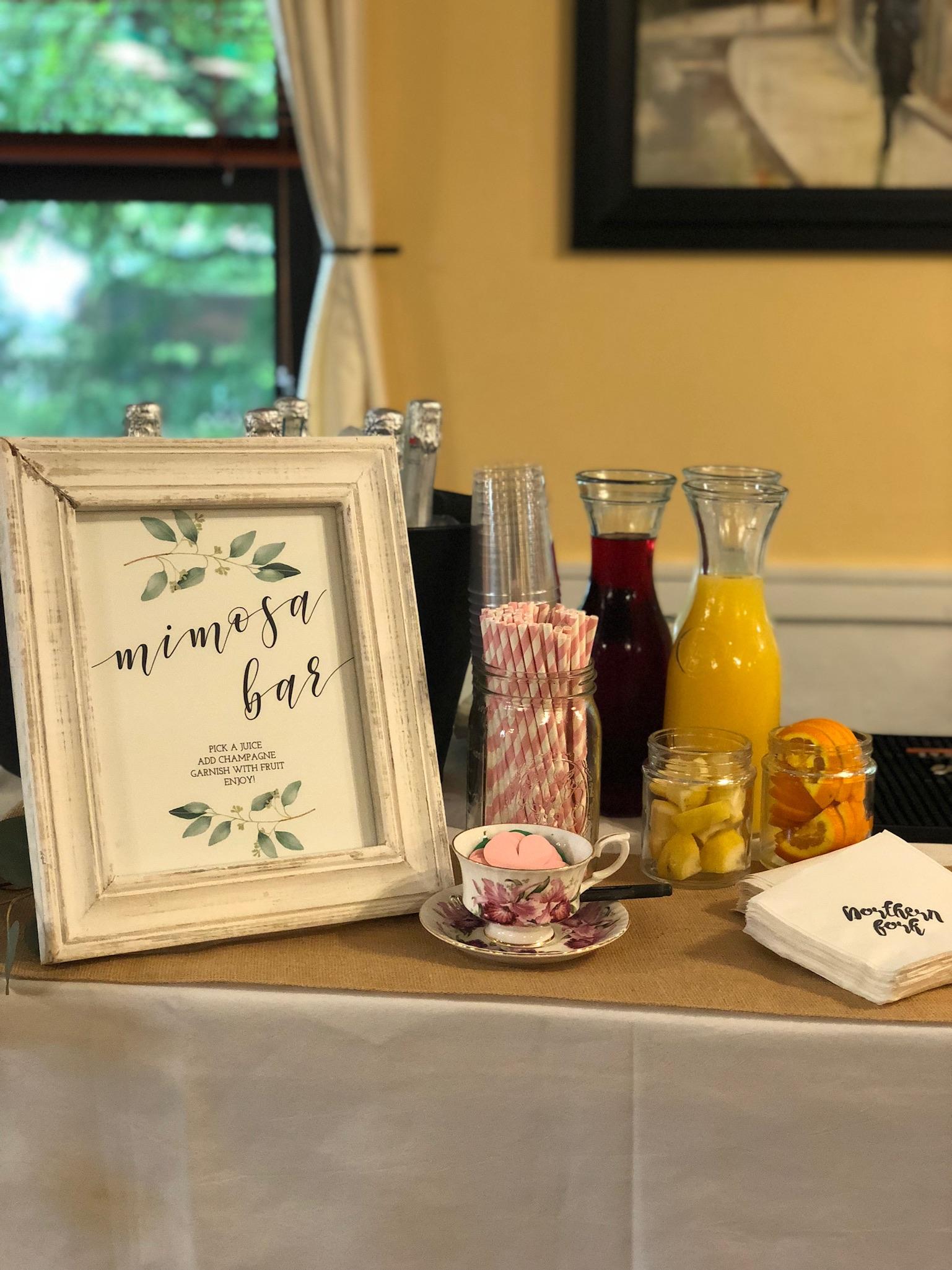 line & lee mimosa bar