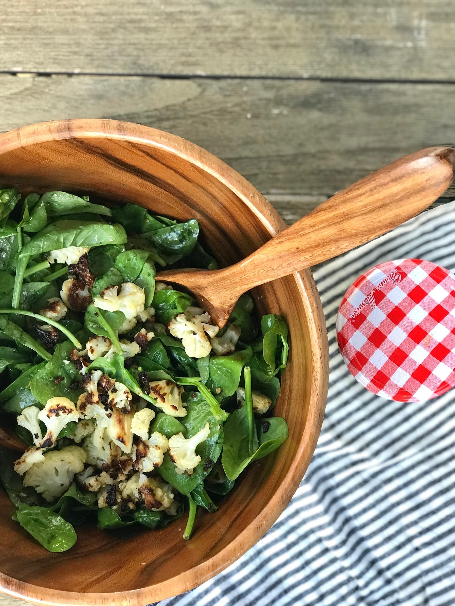 line & lee cauliflower salad