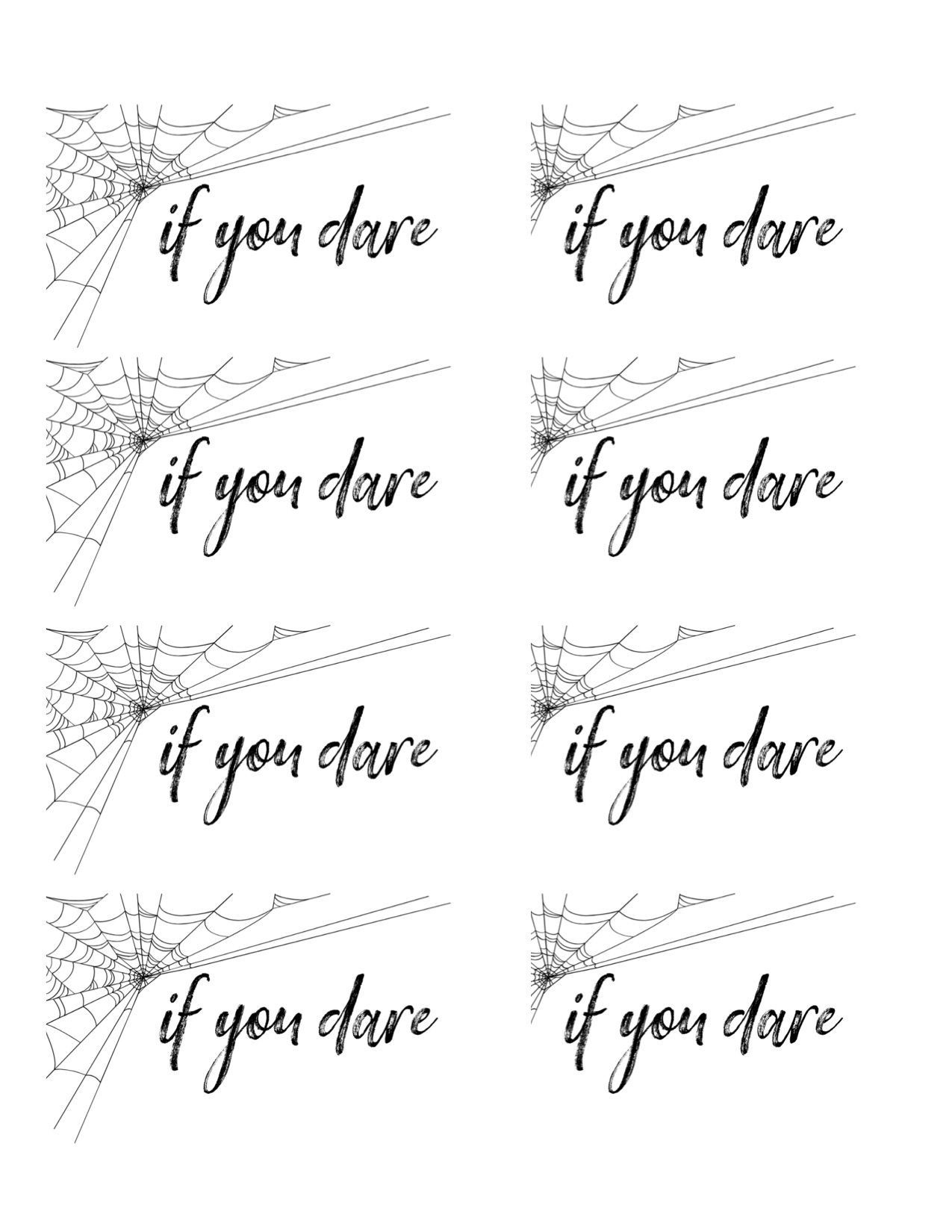 If You Dare printable