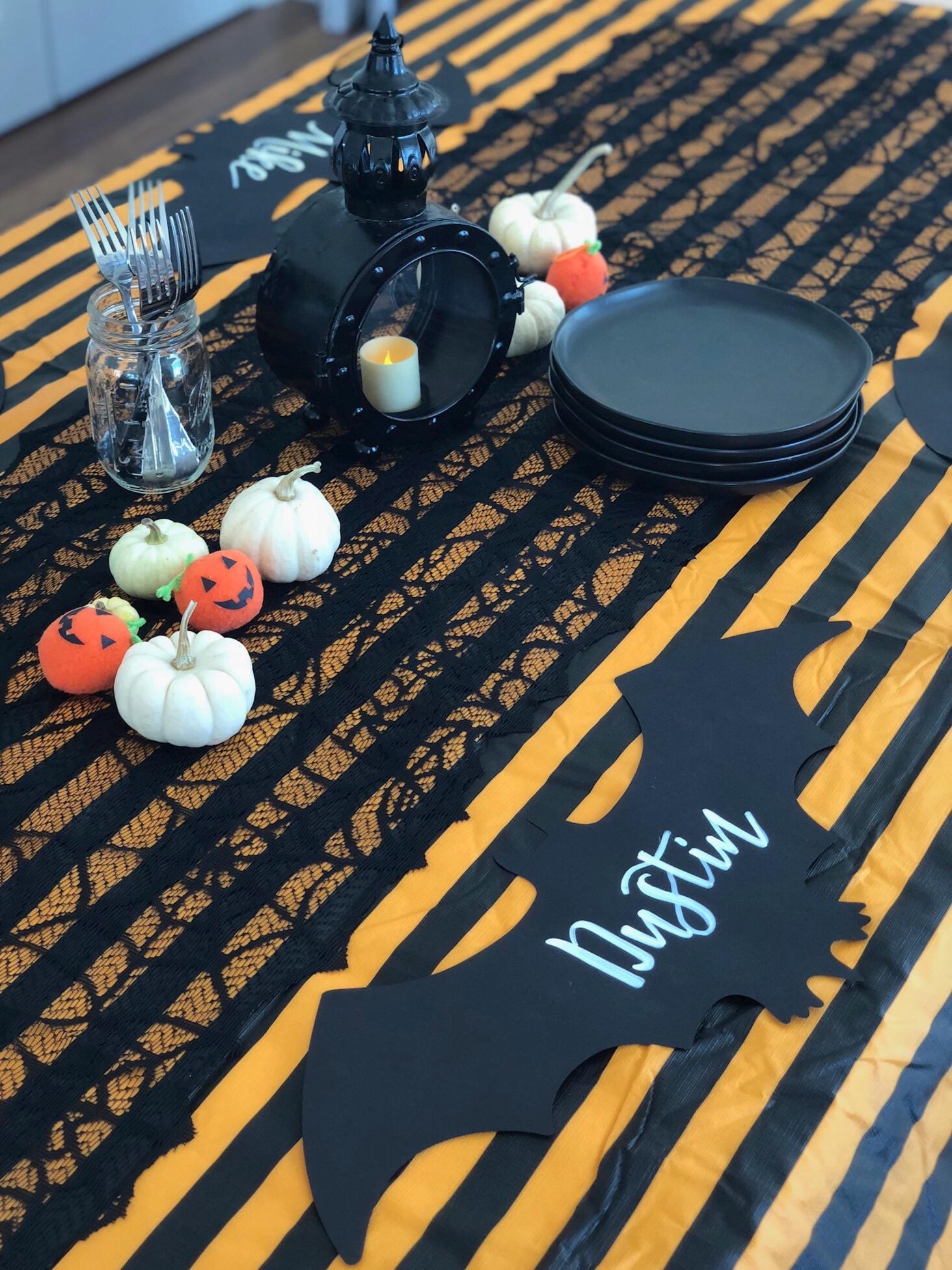 line & lee halloween tablescape
