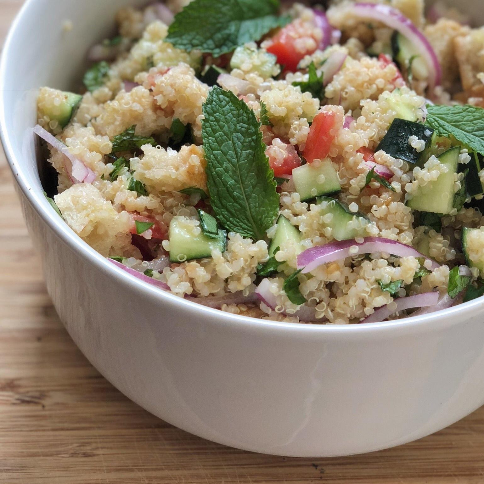 bread & quinoa salad