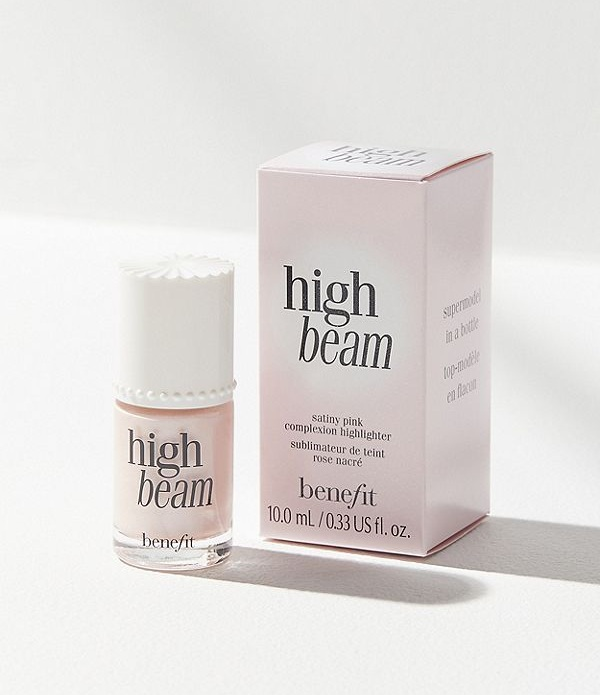 Benefit Cosmetics High Beam Liquid Highlighter - Before strobing was even a twinkle in the cosmetic industry's eye, there was High Beam Liquid Highlighter with it's majorly beautiful, pearly-pink glow. Don't be scared, it works on light to medium skin tones and Benefit's Sun Beam Liquid Highlighter works on darker skin tones. There is no chunky glitter to be found in this formulation yet it manages to radiate healthy skin. We'll even let you in on our little life hack: we apply High Beam under our eyes before applying concealer to lift the dark circles and prevent a matte, cakey look. Try it. You'll look like you slept for a decade.