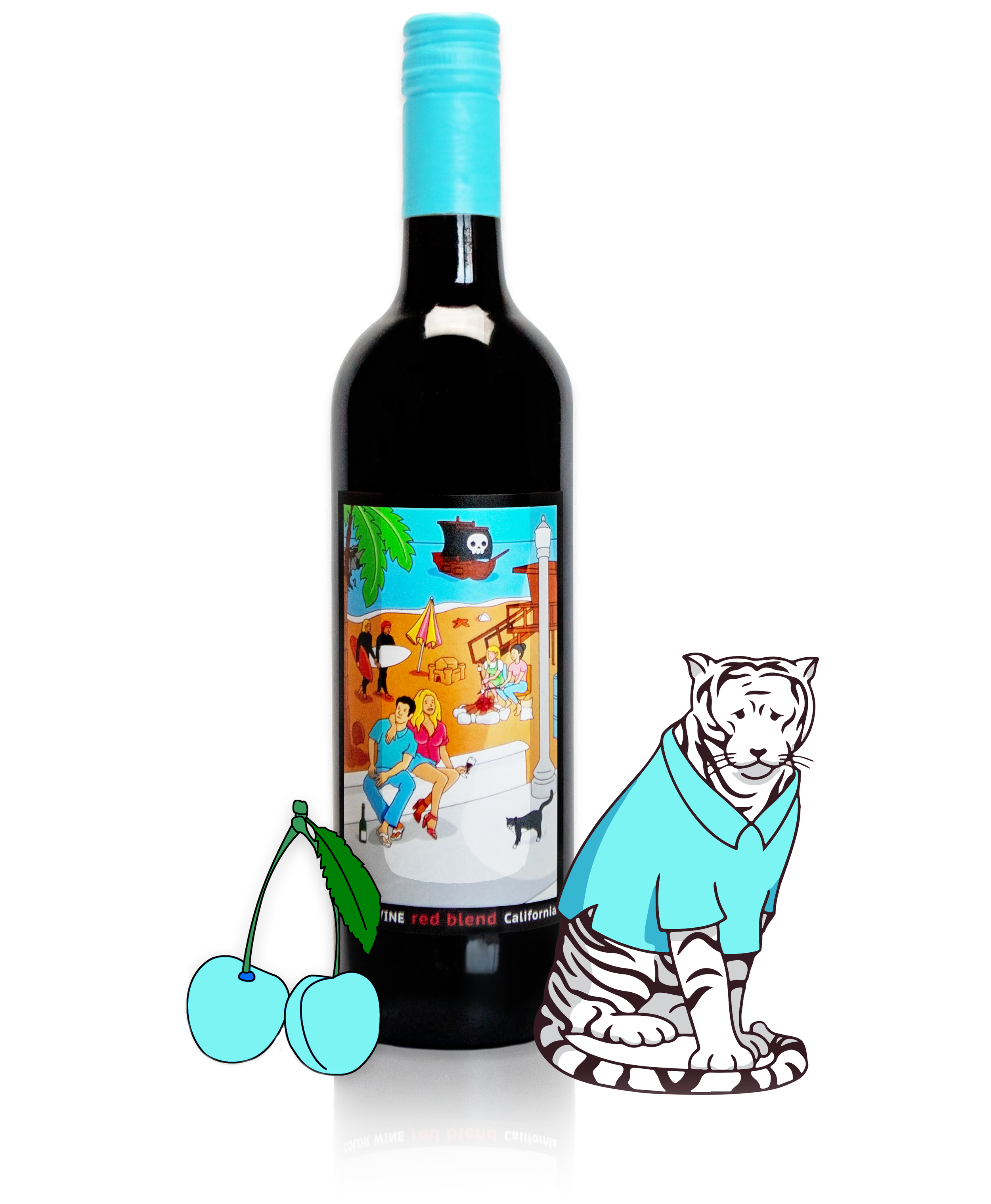 enjoy our red blend - slightly chilled with the sun still shining.