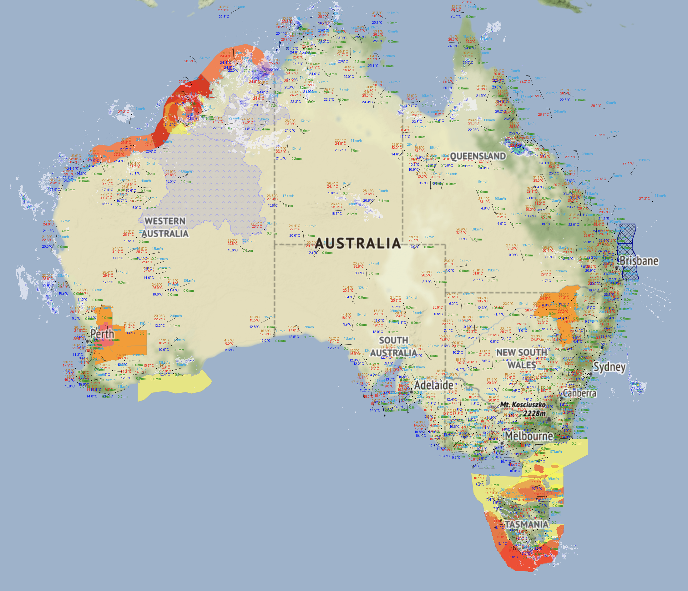 WEATHER WARNINGS - Australian warnings from the bureau of meteorologyQUICKLY SEE IF IT AFFECTS YOU
