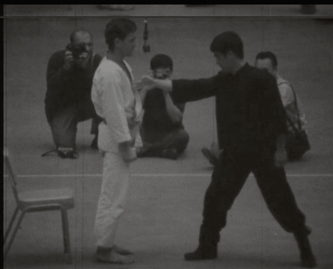 Bruce Lee at the Long Beach Martial Arts Tournament 1964