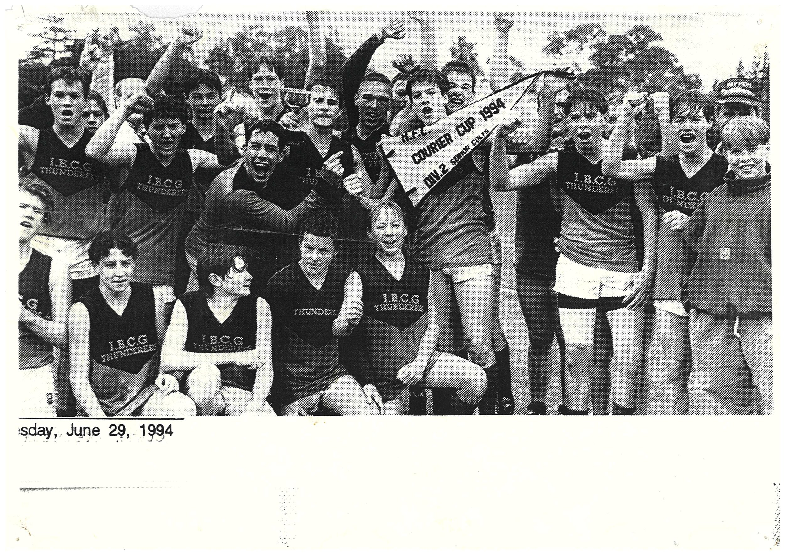 1994 June 29th Courier Cup winners Div 2 Ironbank Senior Colts .jpg