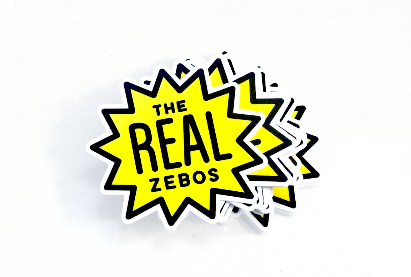 Stickers created for  The Real Zebos ,a great band that you should totally check out!