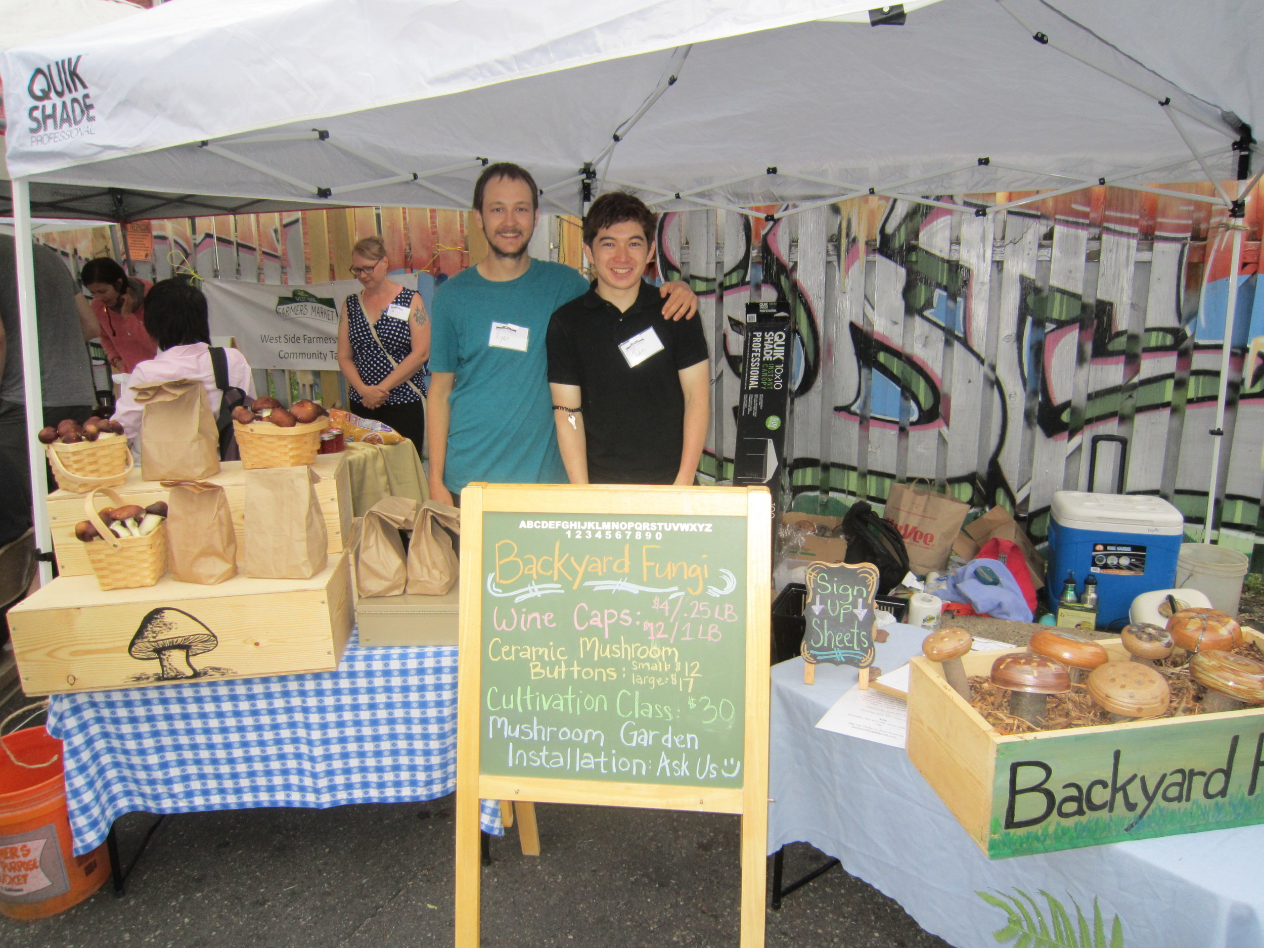 Ryan and Torin at the westside Farmers market