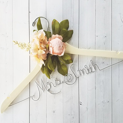 Metal Writing with Accent Flowers -