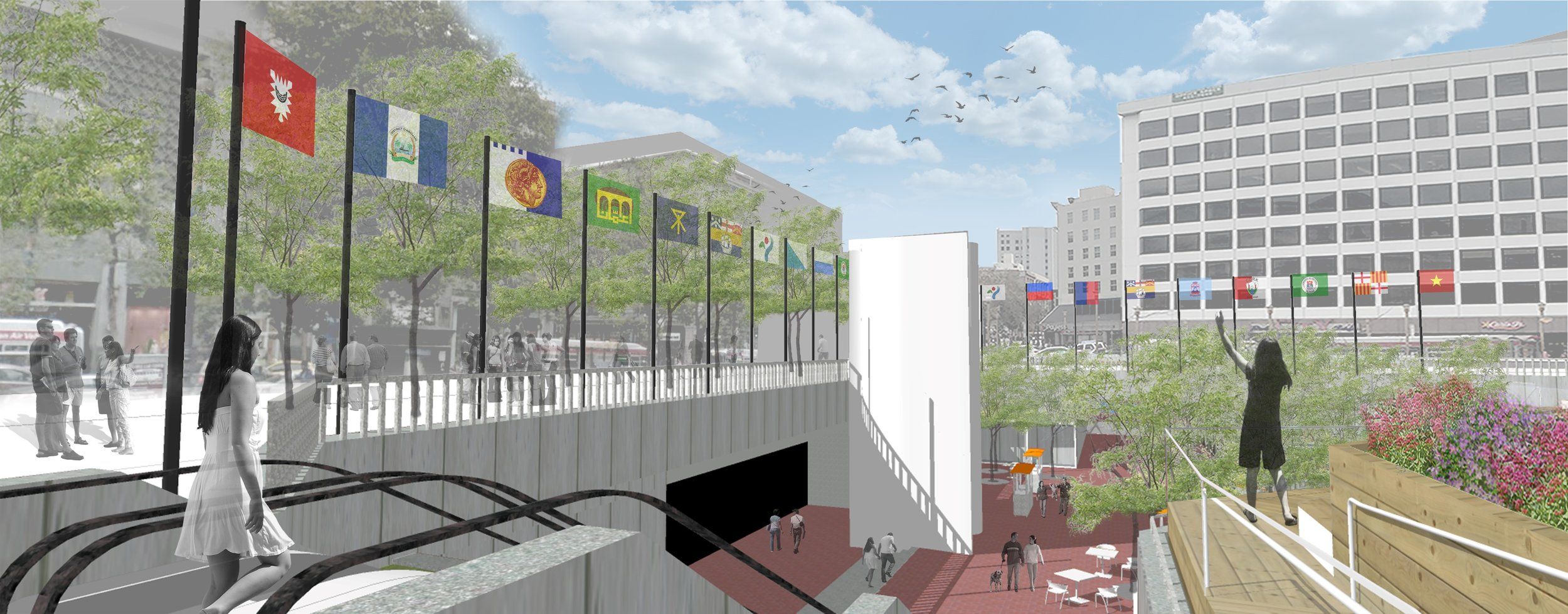 Partnering with SF's Sister Cities to draw international significance to Hallide Plaza