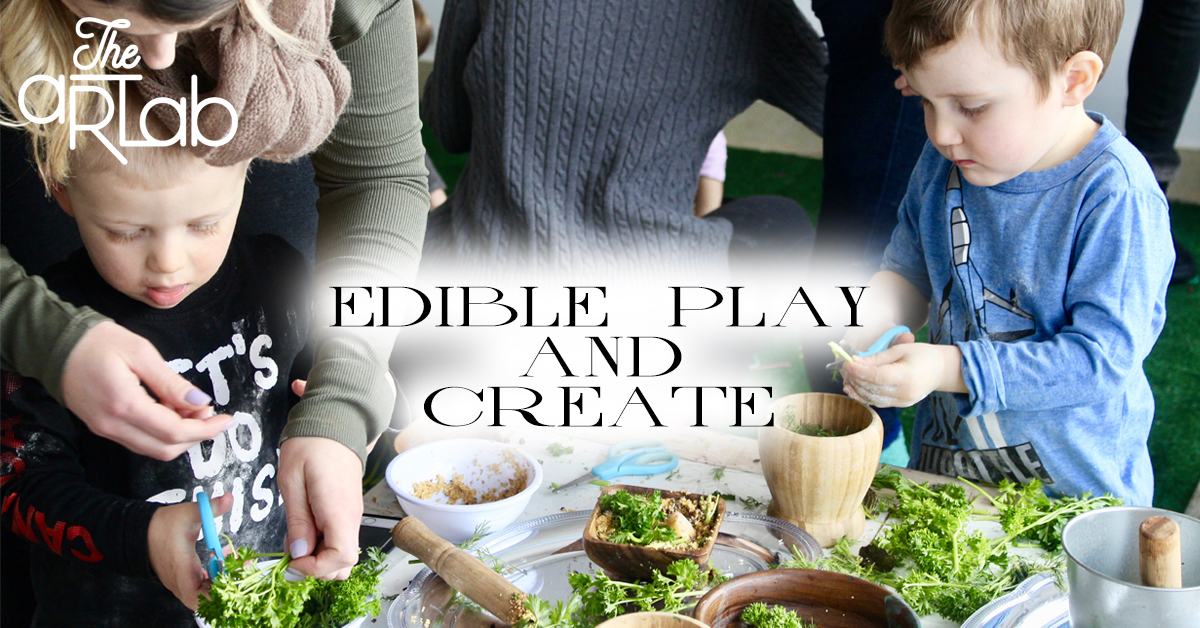 EDIBLE PLAY &CREATE - Cost: $19.99+HSTCaregiver required, recommended for ages 18 months to 4 years old.Do you have a toddler that puts everything in their mouth from paint, to dirt, to playdough? Come play and create with us!For this hour long workshop we will be using all edible materials! Expect edible finger paints, chocolate play dough, rainbow spaghetti, a citrus water table, and so much more. You will be able to unleash your messy toddler into a world of exploration where tasting is SAFE and welcomed.