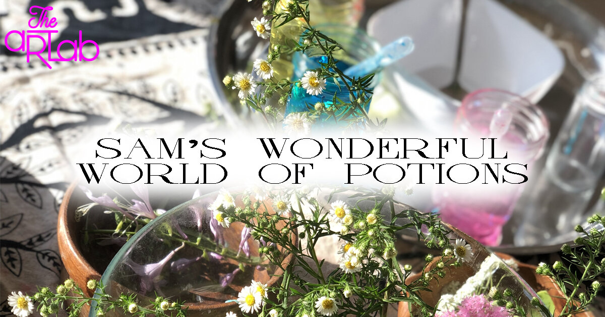 SAM'S WONDERFUL WORLD OF POTIONS - Cost: $19.99+HSTSign up link: https://app.acuityscheduling.com/schedule.php?owner=16340098&appointmentType=11393021Jump straight into the wonderful world of potion brewing! Join us for colourful concoctions and delightful scents as your little one becomes a messy, magical mixologist!(Ingredients may include: natural ingredients, food colouring, glitter, live & faux botanicals and many other items.)If you have any concerns about allergies, please message us before booking.Recommended for ages 5+