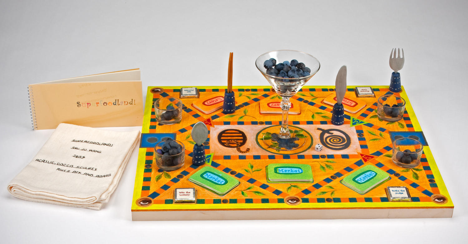 Game board with game pieces &  instruction book.