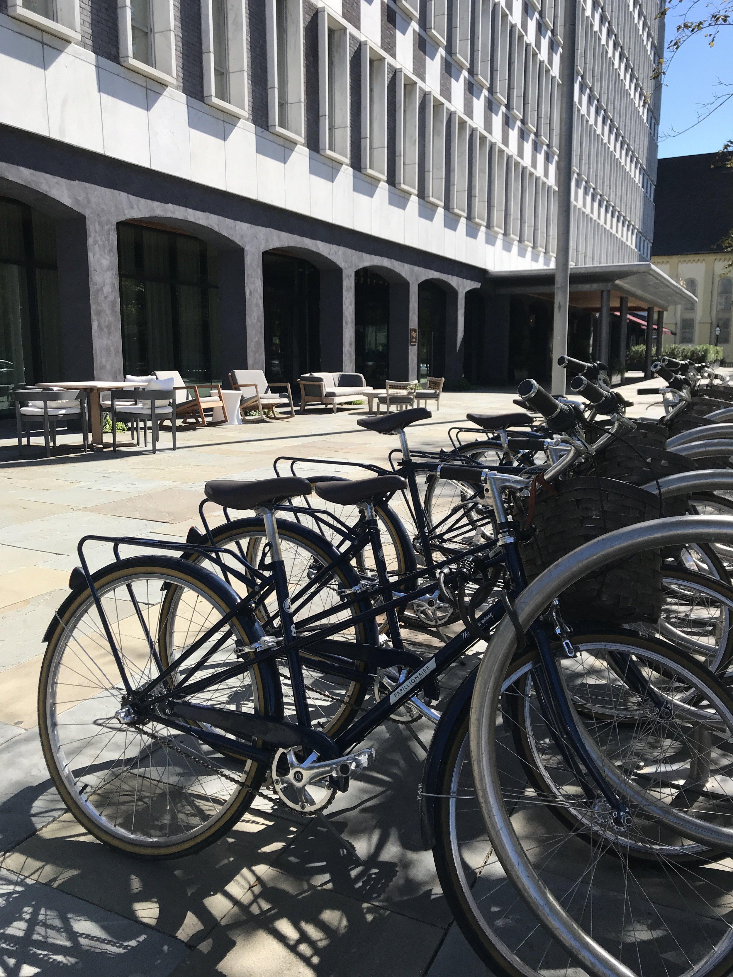 Bicycles to borrow.