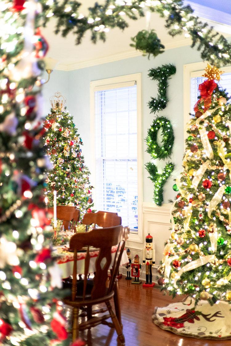 Dining Room Christmas Trees