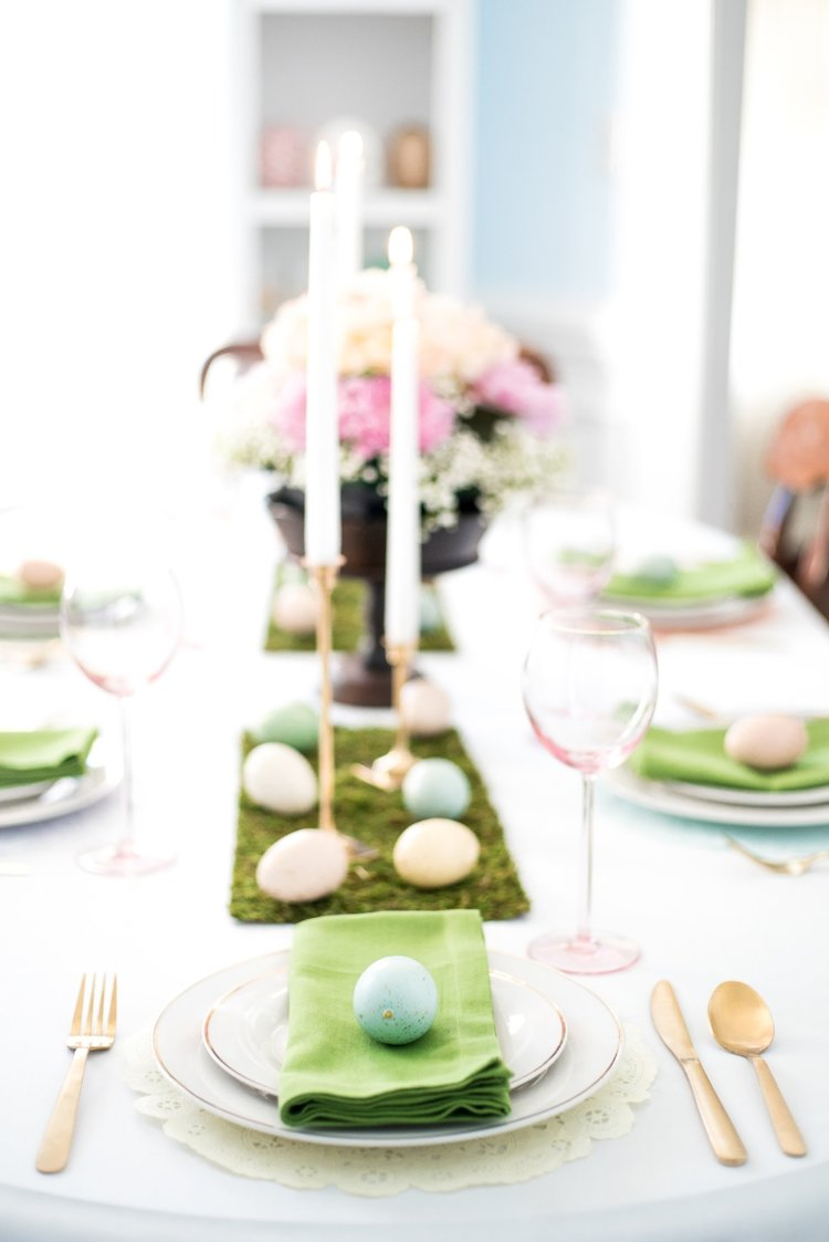 Easter and Spring Tablescape