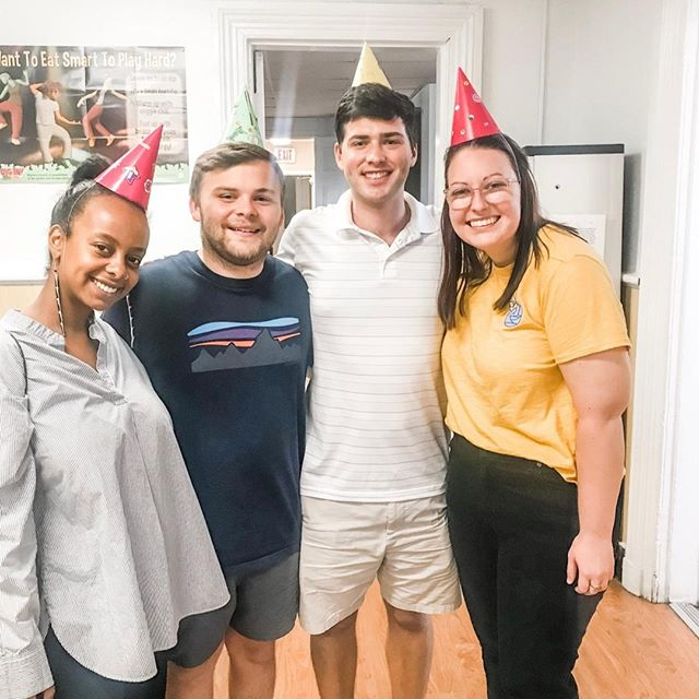 whoop 🎉 this morning, we are celebrating the incredible summer interns at @barbermartinagency. we were chosen to be their client for the entire summer - meaning we were on the receiving end of hundreds of hours of work and they delivered amazing work for us (and even celebrated with us at parties a few times)! from collateral (sneak peeks coming soon) to website updates to branding guidelines, they've done it all and we are honored that they chose us to be their account for the summer. not only were these interns amazing, the entire team at BMA was involved and invested. we're thankful to everyone who made this possible!   we're also pumped to share that noah (the third from the left) will be staying here in richmond and will be joining our confetti committee to continue supporting our mission 🕺  #celebraterva #birthdaysupplies #birthdayparty #celebrate #giverichmond #rva #richmondva #nonprofit #impactofjoy #joymakers #giveback #community #everybodydeservesaparty