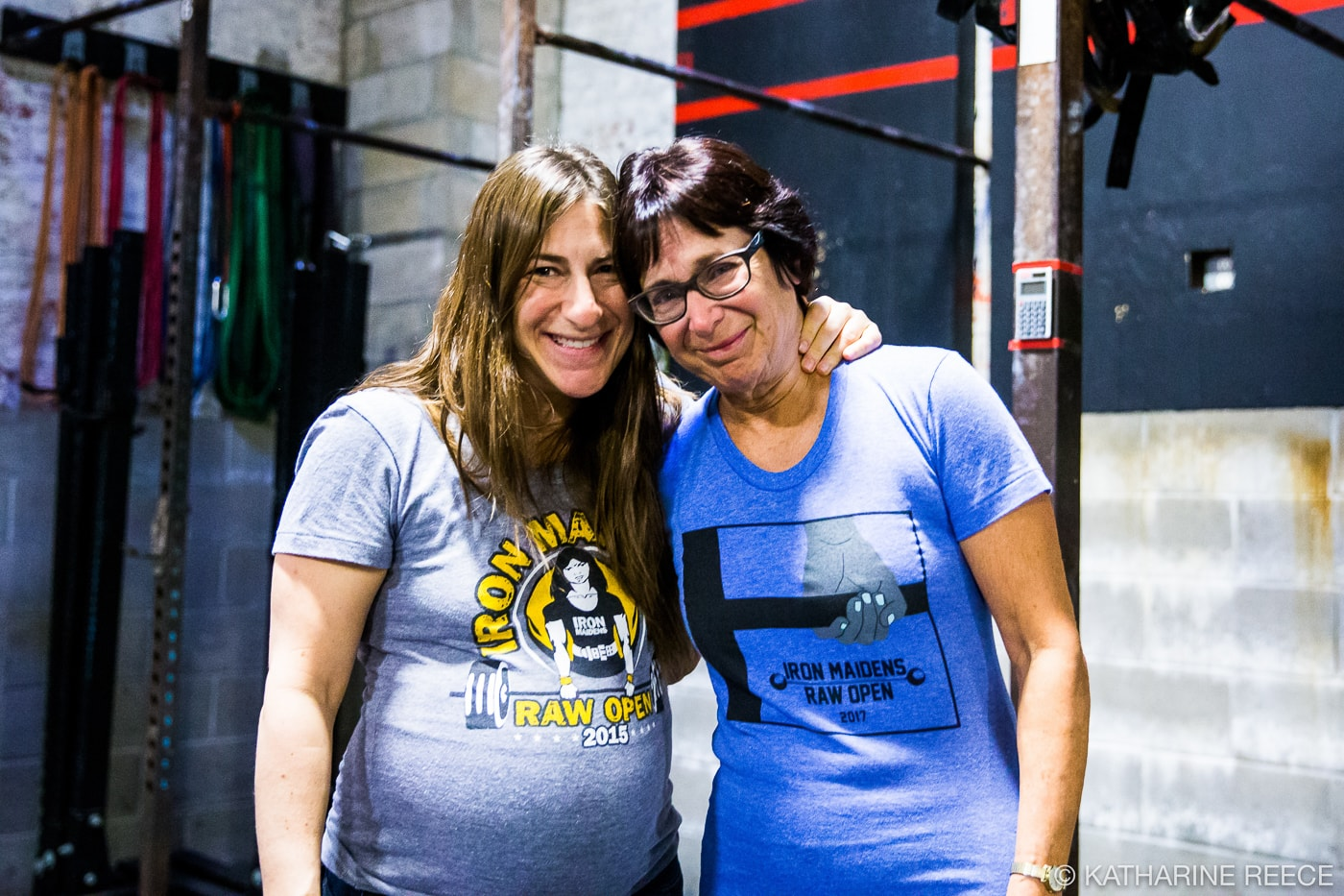 Margie and her mother, Linda Lempert, at Iron Maidens in 2017. Linda started lifting at the age of 70 to prepare for Iron Maidens 2016.