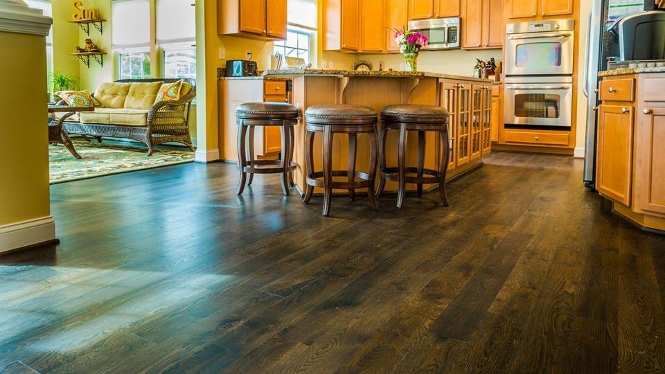 """Kitchen with 5"""" Rift & Quartered Natural Grade White Oak"""