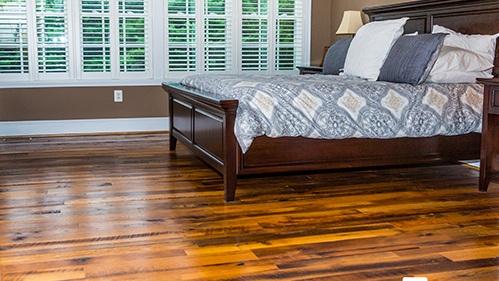 Reclaimed Antique Oak Hardwood Floor Installation
