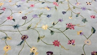 Nourison Modern Floral Wool Area Rug