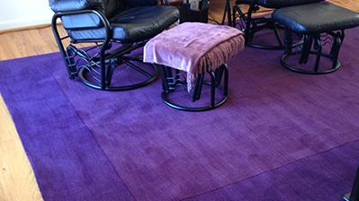 Custom Purple Surya Wool Rug