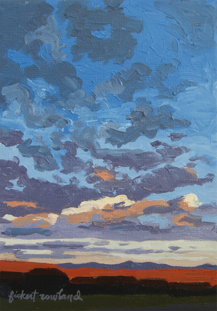 """Parker Sunrise, CO""  5 in x 7 in"