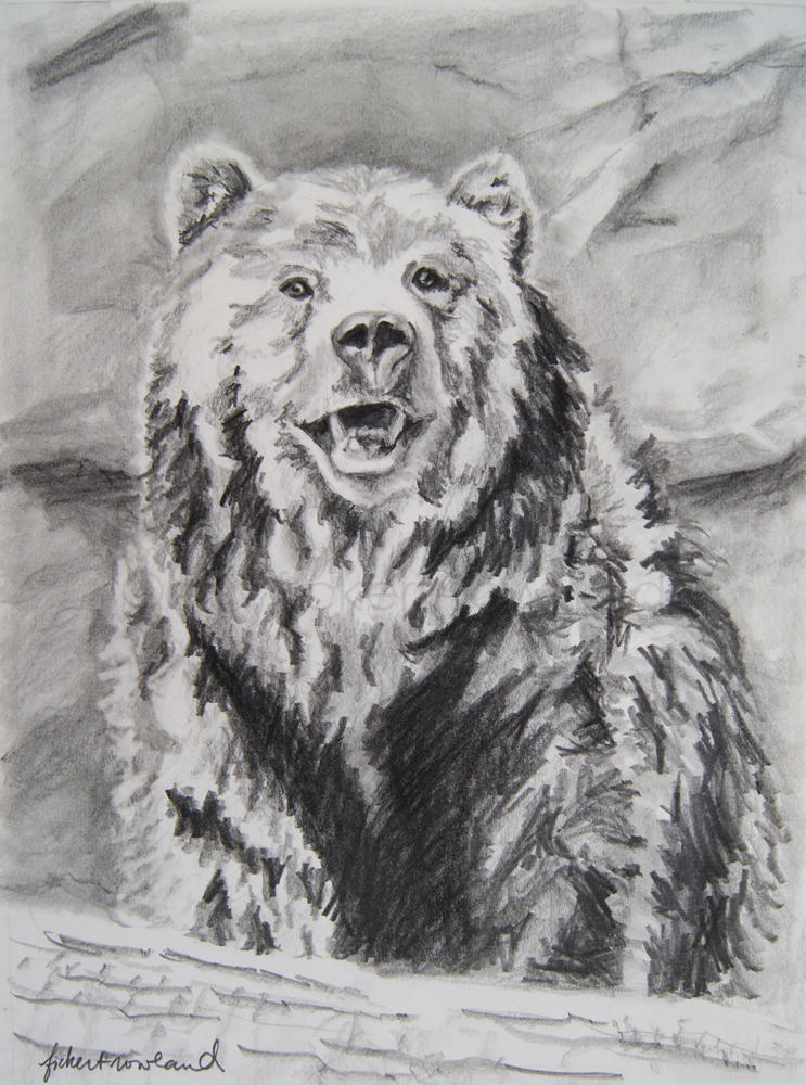 """""""The Grin""""  9 in x 11 in  Matted to 11 in x 14 in"""