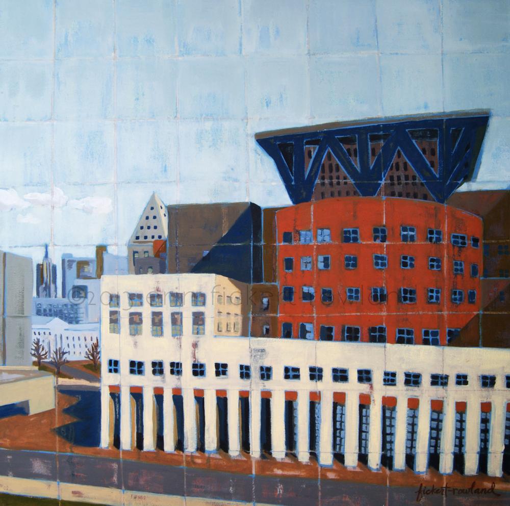 """""""DAM Library, Denver""""  18 in x 18 in"""