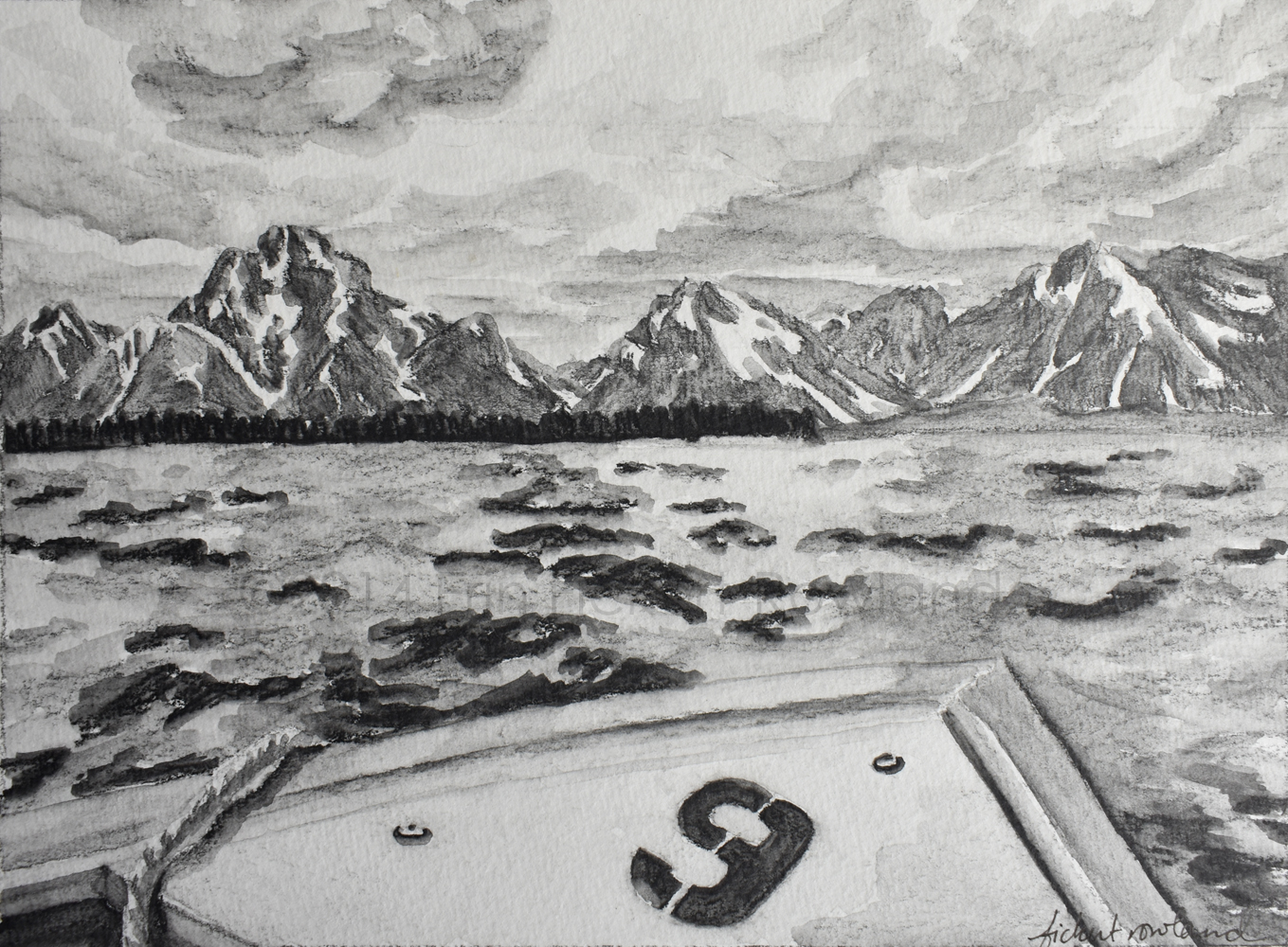 """Jenny Lake, Grand Teton National Park""  6 in x 8 in  Matted to 8 in x 10 in"