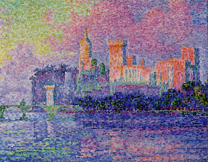 """""""The Papal Palace at Avignon"""" by Paul Signac"""