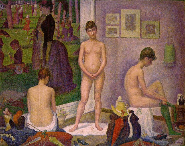 """""""Les Poseuses"""" by Georges Seurat"""