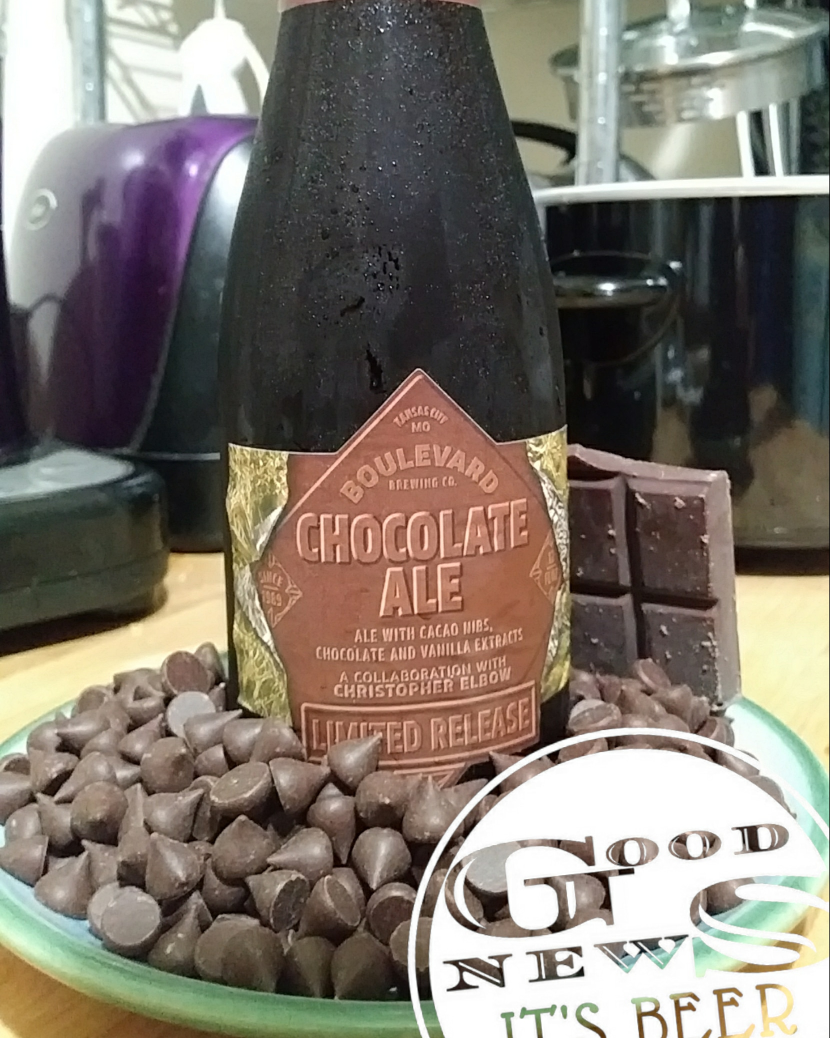 Chocolate Ale, with Chocolate and More Chocolate. - Boulevard Brewing makes an excellent chocolate ale, and what better food to pair it with than more chocolate! And maybe vanilla ice cream. This beer was great for sipping, and when it got a little warmer more flavors came out.For me the best part is that it doesn't have lactose. These days it's getting hard to find a nice, dark, rich, tasty ale or stout that doesn't have lactose. No Bueno for those of us with intolerances.