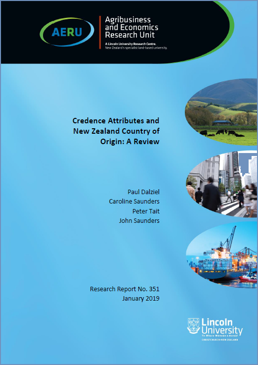 Report 3: Credence Attributes and New Zealand Country of Origin - A Review