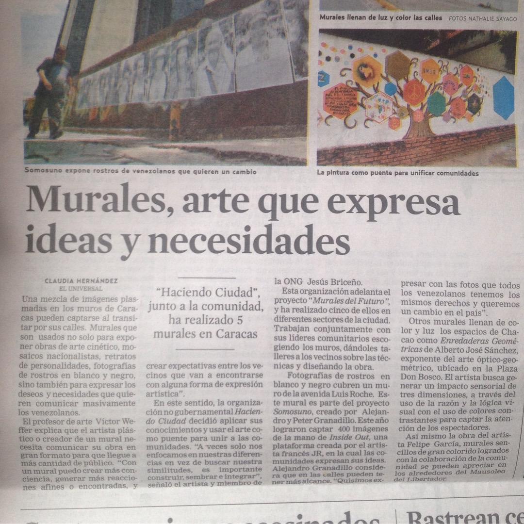 Murales, arte que expresa ideas y necesidades (El Universal)