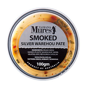 Smoked Silver Warehou Paté  100g, 500g, 1kg Scrumptious cracker toppings Shelf life: 21 days