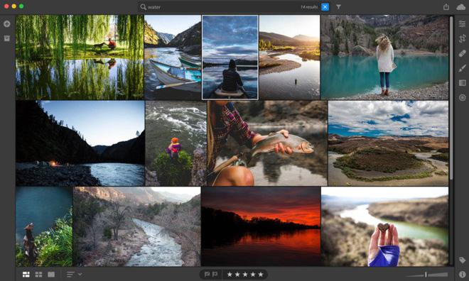 Chỉ cần nhập một từ khoá cụ thể, Lighroom CC sẽ tự động hiển thị những bức ảnh liên quan