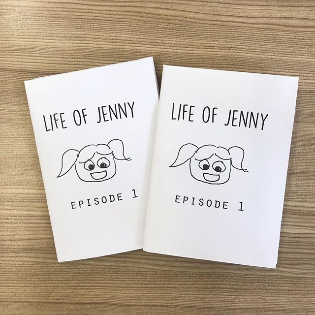 Ya girl just made her first #zine!! Ready for the zinexhange this weekend in Taipei woohoo! This was all created at 7-11 loll #jennyfeelsthings #comic #zinemaking