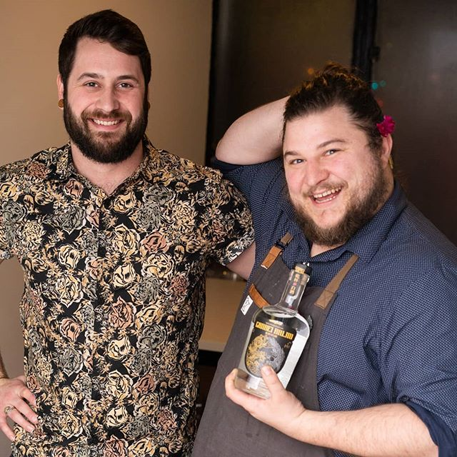 Join us tomorrow at @lawlessdistilling for $5 baijiu cocktails! These two fellas, @sassparzilla and @louiecheese are two of the talented bartenders who helped to bring this delicious menu to life!  We'll see you there!  #minneapolis #mplsfoodie #mplscocktails #foodieapolis #mnfoodie#mixology #drinks #bartender #drinkup #booze #drink #bitters #craftedmixology #baijiucocktails #craftcocktails #cocktails  #cocktailrecipe #ganbei #ganbeibaijiu #baijiu #spirits #drinkganbei #china #imbibe #liquor #alcohol #chinese #cheers #drinkganbei #bartender #camplawless