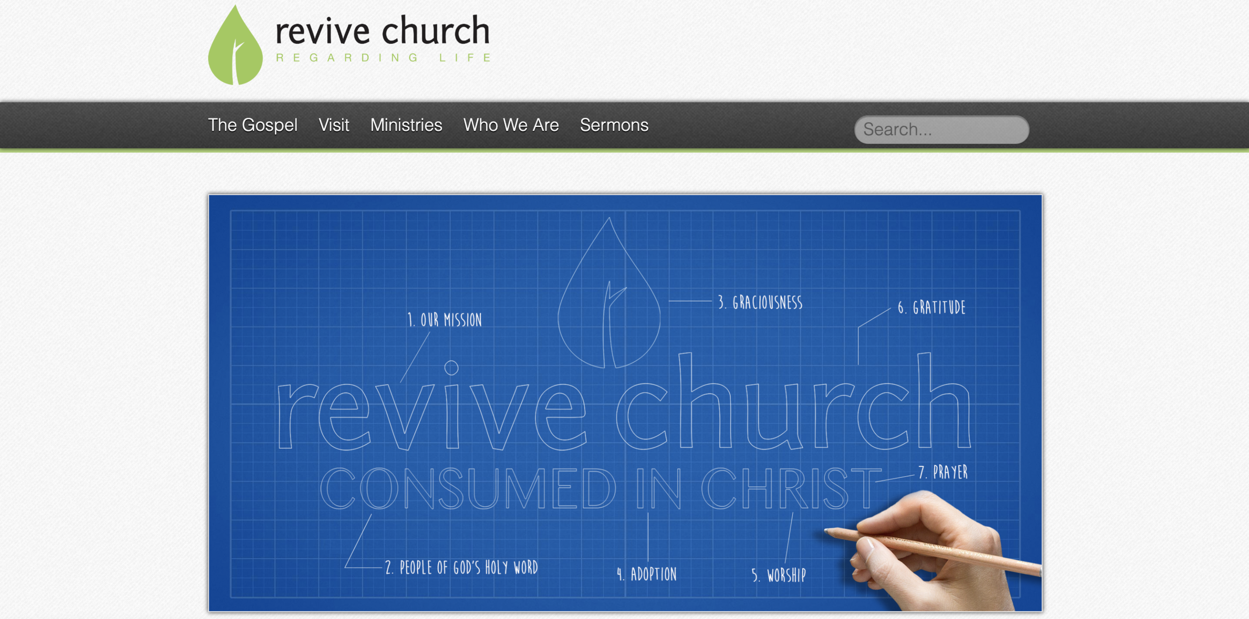 This was Revive's old home page.