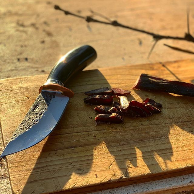 Some Sunday Impala #biltong  Thank you very much @brandon_____b! This beautiful blade was made by @behringmade