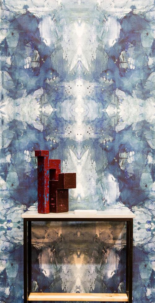 Michelle Dirkse Collections Mirror Dark Blue Wallpaper 5 Yard Roll